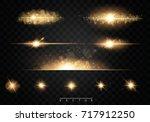 set. shining star  the sun...   Shutterstock .eps vector #717912250