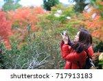 travel girl in japan   Shutterstock . vector #717913183