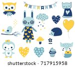 set of cute vector characters... | Shutterstock .eps vector #717915958