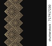 golden frame in oriental style. ... | Shutterstock .eps vector #717917230