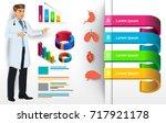 medical infographic elements... | Shutterstock .eps vector #717921178