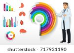 medical infographic elements... | Shutterstock .eps vector #717921190