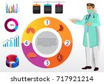 medical infographic elements... | Shutterstock .eps vector #717921214
