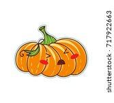 vector cartoon element for... | Shutterstock .eps vector #717922663
