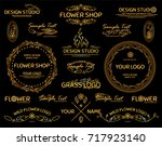 vector set of hand drawn... | Shutterstock .eps vector #717923140