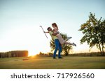 happy couple feeling happy... | Shutterstock . vector #717926560