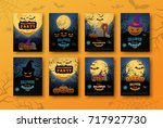 Stock vector halloween backgrounds collection traditional design for october events vector templates easy to 717927730