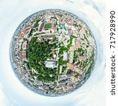 aerial city view with... | Shutterstock . vector #717928990