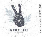 international peace day... | Shutterstock .eps vector #717931180