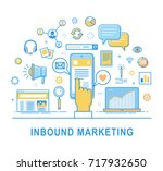 inbound marketing. vector... | Shutterstock .eps vector #717932650