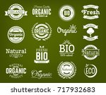 100  organic logo. collection... | Shutterstock .eps vector #717932683