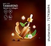 tamarind serum or collagen and...   Shutterstock .eps vector #717938494