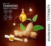 tamarind serum or collagen and...   Shutterstock .eps vector #717938674