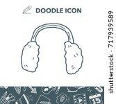 earmuffs doodle   Shutterstock .eps vector #717939589