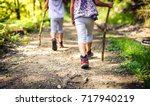 children hiking in mountains or ... | Shutterstock . vector #717940219
