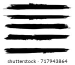 grunge paint stripe . vector... | Shutterstock .eps vector #717943864