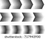 sideways set . linear signs...   Shutterstock .eps vector #717943930