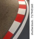 Small photo of closeup curb curbes on speedway circuit for race cars