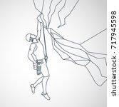 climbing vector logo icon... | Shutterstock .eps vector #717945598