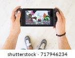 gijon  spain   aug 10  2017 ... | Shutterstock . vector #717946234