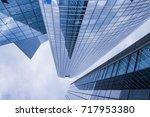 business and finance center...   Shutterstock . vector #717953380