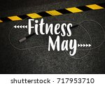 fitness motivation quote | Shutterstock . vector #717953710