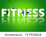fitness motivation quote | Shutterstock . vector #717953818