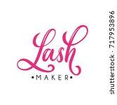 lash maker lettering logo... | Shutterstock .eps vector #717953896