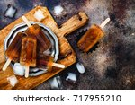 rum and coke cocktail popsicles ... | Shutterstock . vector #717955210