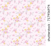 seamless floral pattern.... | Shutterstock .eps vector #717956974