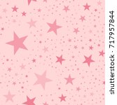 pink stars seamless pattern on... | Shutterstock .eps vector #717957844