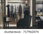 women clothing store in paris | Shutterstock . vector #717962074