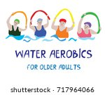 water aerobics banner with... | Shutterstock .eps vector #717964066