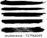 set of grunge brush strokes   Shutterstock .eps vector #717966049