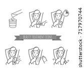 removing underarms hair by... | Shutterstock .eps vector #717970744