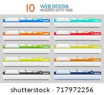 set of vector web site headers... | Shutterstock .eps vector #717972256