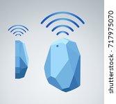 vector design beacon device...   Shutterstock .eps vector #717975070