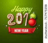 happy new year 2018 background. ... | Shutterstock .eps vector #717975358