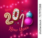 happy new year 2018 background. ... | Shutterstock .eps vector #717975388