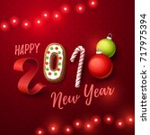 happy new year 2018 background. ... | Shutterstock .eps vector #717975394