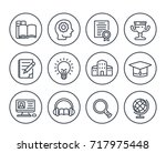 education  learning line icons... | Shutterstock .eps vector #717975448