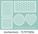 decorative panels set for laser ...   Shutterstock .eps vector #717975856