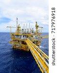 offshore construction platform... | Shutterstock . vector #717976918