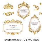 raster version. set frames and... | Shutterstock . vector #717977029