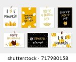 collection of gold texture... | Shutterstock .eps vector #717980158