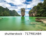 james bond island in phang nga... | Shutterstock . vector #717981484