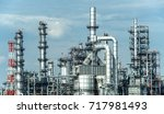 close up industrial view at oil ... | Shutterstock . vector #717981493