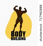 bodybuilder muscle man fitness... | Shutterstock .eps vector #717982888