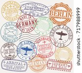 germany berlin stamp vector art ... | Shutterstock .eps vector #717988999