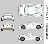 isolated image of  vector car.... | Shutterstock .eps vector #717992614